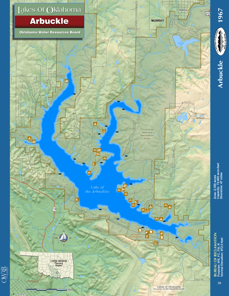 Arbuckle Lake Map