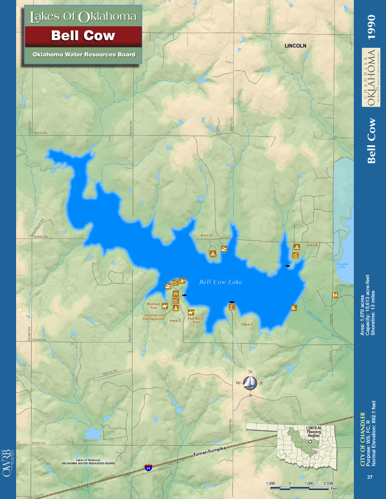 Bell Cow Lake Map