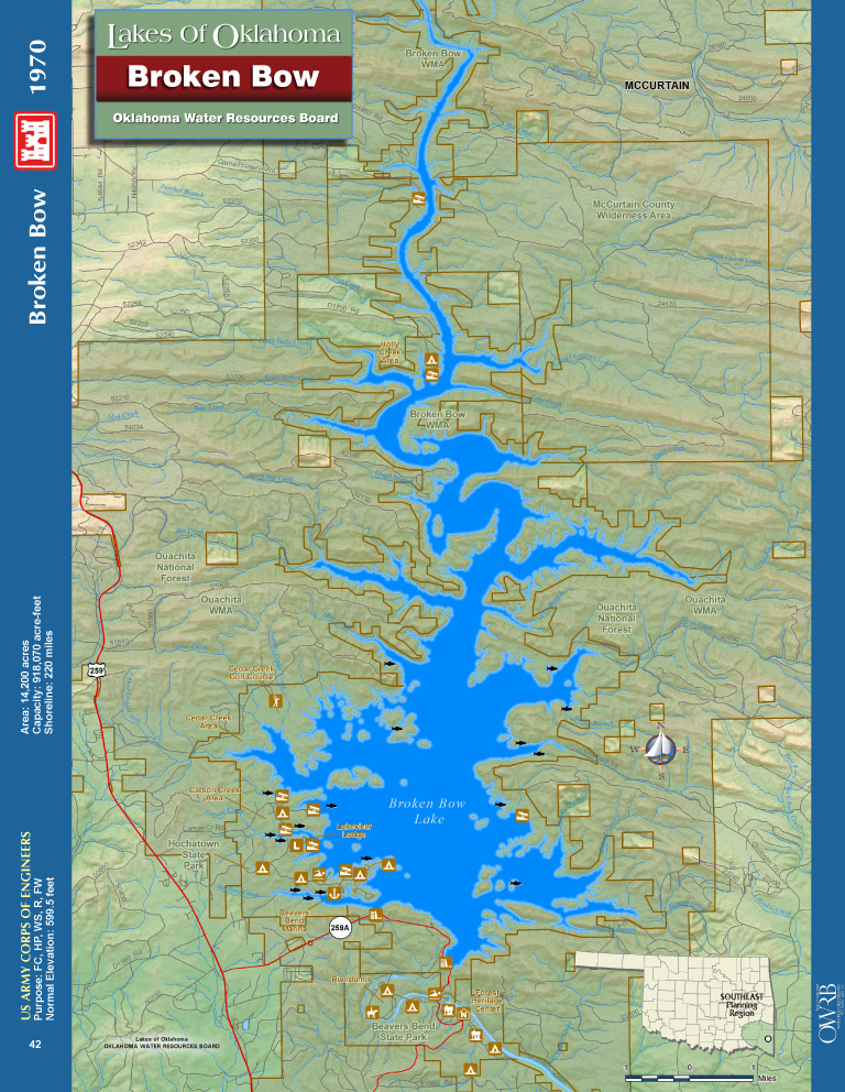 Broken Bow Lake Map