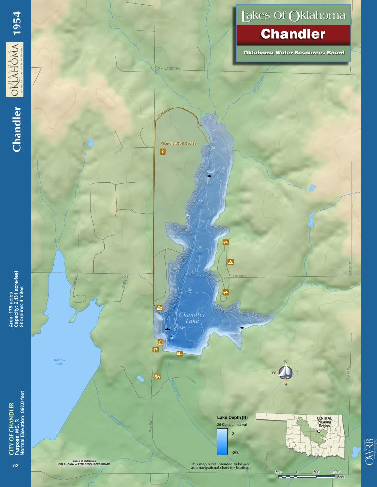 Chandler Lake Map