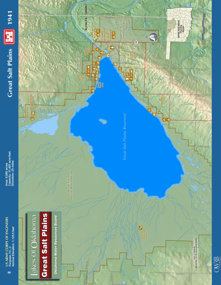 Great Salt Plains Lake Map