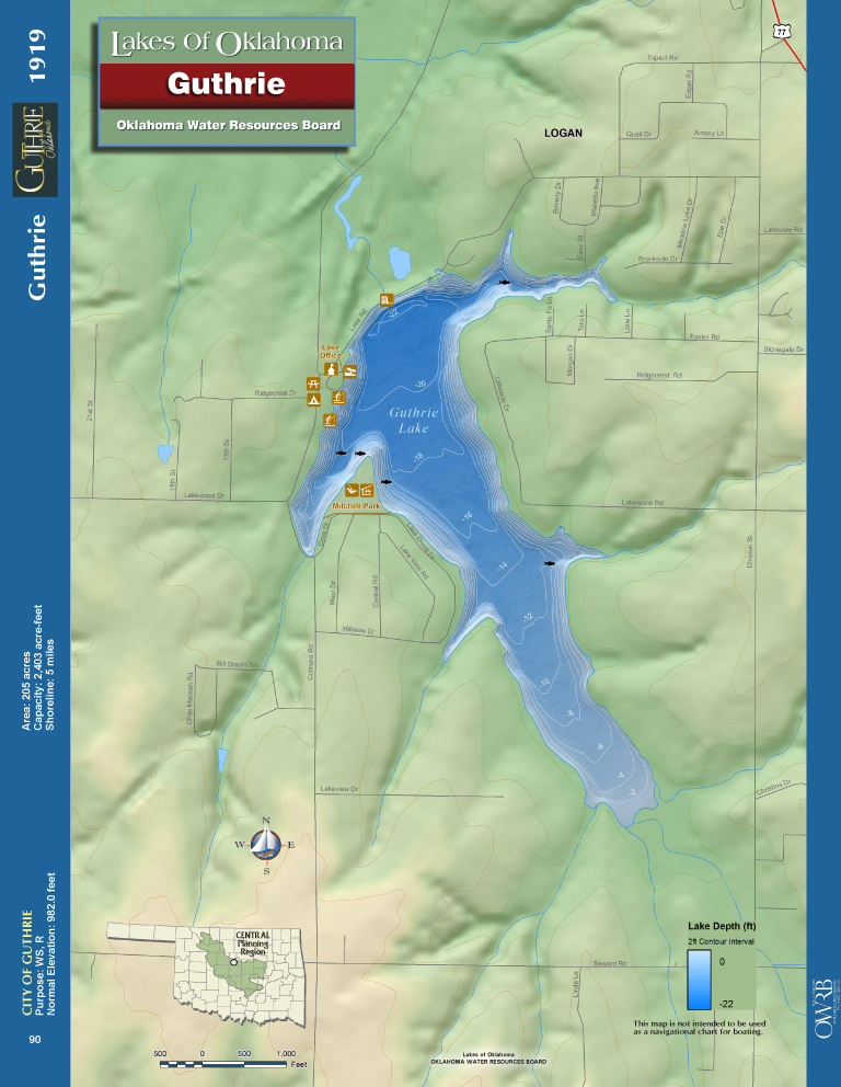 Guthrie Lake Map