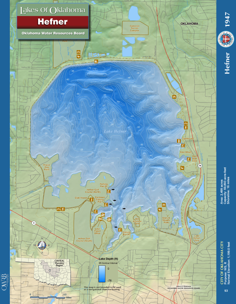 Lake Hefner Map