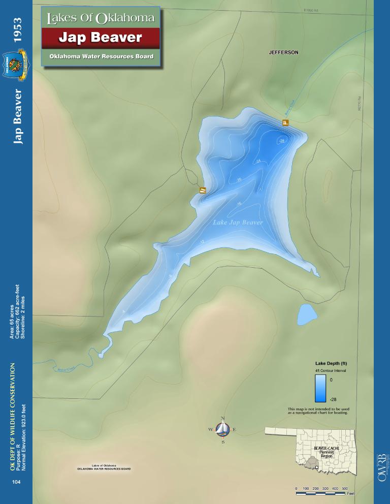 Lake Jap Beaver Map