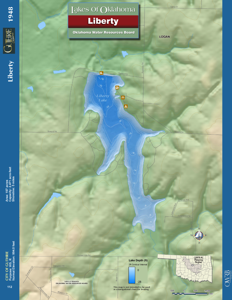 Liberty Lake Map