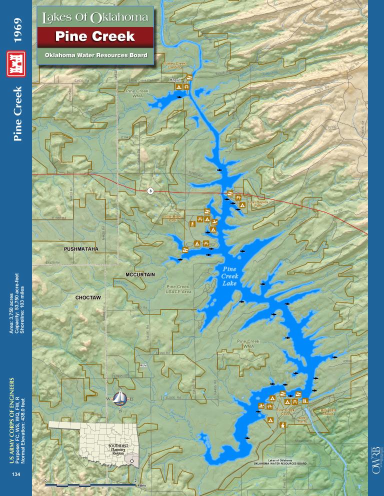 Pine Creek Lake Map