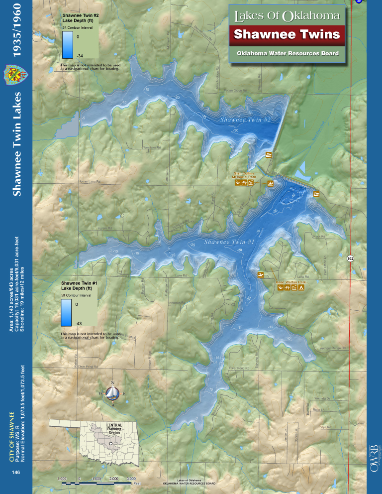 Shawnee Twin Lakes Map