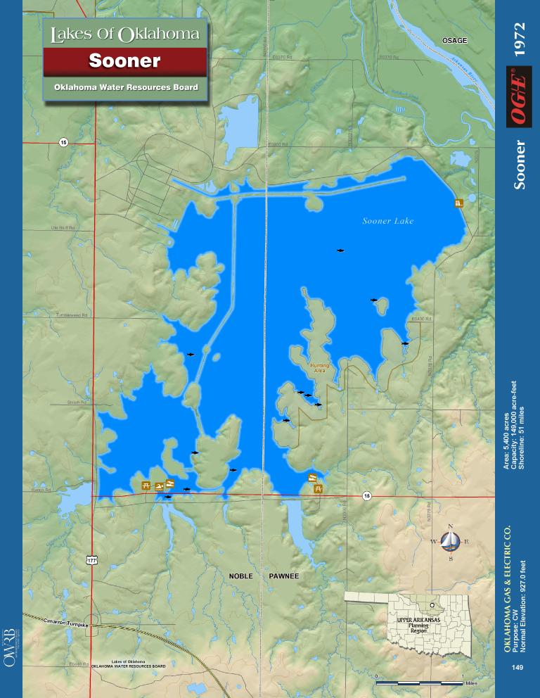 Oklahoma Lakes Map Bnhspine Com